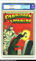 Golden Age (1938-1955):Horror, Forbidden Worlds #10 (ACG, 1952) CGC FN/VF 7.0 Cream to off-whitepages. Jay Disbrow art. Overstreet 2003 FN 6.0 value = $93...