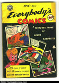 Golden Age (1938-1955):Adventure, Fox Giants Everybody's Comics 1 1946 D Copy Pedigree (Fox Features Syndicate, 1946) Condition: FN. Green Lama. Overstreet 20...