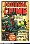 Golden Age (1938-1955):Crime, Fox Giants Journal of Crime (Fox Features Syndicate, 1949) Condition: GD+. Overstreet 2003 GD 2.0 value = $46....