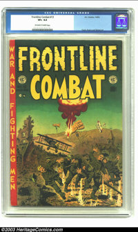 Frontline Combat #13 (EC, 1953) CGC VF+ 8.5 Off-white to white pages. Davis, Evans and Wood art. Overstreet 2003 VF 8.0...