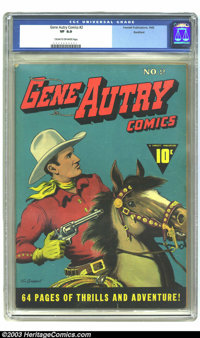 Gene Autry Comics #2 Rockford pedigree (Fawcett, 1942) CGC VF 8.0 Cream to off-white pages. This early Fawcett Western i...