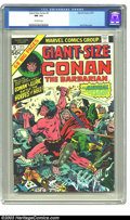 Modern Age (1980-Present):Miscellaneous, Giant-Size Conan #5 (Marvel, 1975) CGC NM 9.4 Off-white pages. Jack Kirby cover. Overstreet 2003 NM 9.4 value = $15. ...