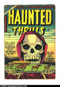 Golden Age (1938-1955):Horror, Haunted Thrills #18 (Farrell, 1954) Condition: GD/VG. Overstreet2003 GD 2.0 value = $20; VG 4.0 value = $40. ...