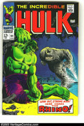 Silver Age (1956-1969):Superhero, The Incredible Hulk #104 (Marvel, 1968) Condition: FN/VF. The Hulk vs. Rhino! Overstreet 2003 FN 6.0 value = $30; VF 8.0 val...