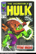 Silver Age (1956-1969):Superhero, The Incredible Hulk #106 (Marvel, 1968) Condition: VF. Nice high-grade Silver Age Marvel. Overstreet 2003 VF 8.0 value = $53...