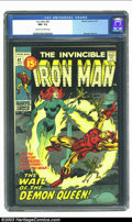 Bronze Age (1970-1979):Superhero, Iron Man #42 (Marvel, 1971) CGC NM- 9.2 Cream to off-white pages. George Tuska art in this last 15-cent issue. Overstreet 20...