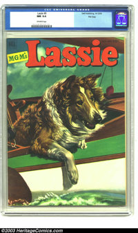 Lassie #9 File copy (Dell, 1952) CGC NM 9.4 Off-white pages. Painted cover. Overstreet 2003 NM 9.4 value = $60