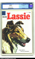 Golden Age (1938-1955):Adventure, Lassie #22 File copy (Dell, 1955) CGC NM 9.4 Cream to off-white pages. Matt Baker art. Overstreet 2003 NM 9.4 value = $55. ...