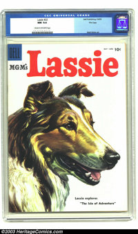 Lassie #22 File copy (Dell, 1955) CGC NM 9.4 Cream to off-white pages. Matt Baker art. Overstreet 2003 NM 9.4 value = $5...
