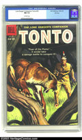 Silver Age (1956-1969):Western, The Lone Ranger's Companion Tonto #33 File copy (Dell, 1959) CGC NM 9.4 Off-white pages. Painted cover; TV comic. Overstreet...