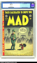 Golden Age (1938-1955):Humor, Mad #3 (EC, 1953) CGC FN+ 6.5 Off-white pages. Stan Lee mentioned; Kurtzman cover, Severin art. Overstreet 2003 FN 6.0 value...
