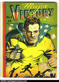 Golden Age (1938-1955):Superhero, Major Victory #2 (H. Clay Glover Company, 1944) Condition: VG. Charles Sultan cover and art. Dynamic Boy appearance. Overstr...