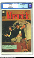 Silver Age (1956-1969):Western, Maverick #13 File copy (Dell, 1960) CGC NM 9.4 Off-white pages.James Garner, Jack Kelly photo cover; TV western comic; auth...