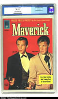 Silver Age (1956-1969):Western, Maverick #16 File copy (Dell, 1961) CGC NM 9.4 Cream to off-whitepages. Roger Moore and Jack Kelly photo cover; TV western ...