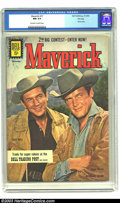 Silver Age (1956-1969):Western, Maverick #17 File copy (Dell, 1961) CGC NM 9.4 Off-white to whitepages. Roger Moore and Jack Kelly photo cover; TV western ...