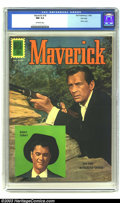 Silver Age (1956-1969):Western, Maverick #18 File copy (Dell, 1962) CGC NM 9.4 Off-white pages. Robert Colbert and Jack Kelly photo cover; authorized editio...