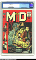 Golden Age (1938-1955):Miscellaneous, M.D. #3 Gaines File pedigree 7/12 (EC, 1955) CGC VF/NM 9.0 Off-white to white pages. Crandall, Evans and Ingels art. Overstr...
