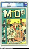 Golden Age (1938-1955):Miscellaneous, M.D. #4 (EC, 1955) CGC FN/VF 7.0 Off-white to white pages. Crandall, Evans and Ingels art. Overstreet 2003 FN 6.0 value = $2...