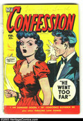 Golden Age (1938-1955):Romance, My Confession #10 (Fox Features Syndicate, 1950) Condition: GD-.Overstreet 2003 GD 2.0 value = $10....