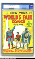 Golden Age (1938-1955):Superhero, New York World's Fair Comics #1940 Edition (DC, 1940 CGC VG+ 4.5 Light tan to off-white pages. Batman, Robin, Hourman and Su...