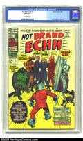 Silver Age (1956-1969):Humor, Not Brand Echh #1 (Marvel, 1967) CGC NM+ 9.6 Off-white pages. Jack Kirby cover and art. Overstreet 2003 NM 9.4 value = $70. ...