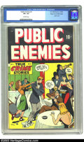 Golden Age (1938-1955):Crime, Public Enemies #2 Mile High pedigree (D.S. Publishing, 1948) CGC VF+ 8.5 Off-white pages. Used in Seduction of the Innocent....