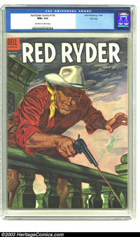 Red Ryder Comics #136 File copy (Dell, 1954) CGC NM+ 9.6 Off-white to white pages. Overstreet 2003 NM 9.4 value = $50...