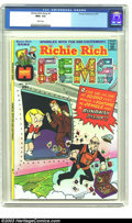 Bronze Age (1970-1979):Cartoon Character, Richie Rich Gems #1 (Harvey, 1974) CGC NM+ 9.6 White pages.Overstreet 2003 NM 9.4 value = $40. ...