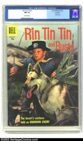 Silver Age (1956-1969):Adventure, Rin Tin Tin #19 File Copy (Dell, 1957) CGC NM 9.4 Off-white pages. Photo cover. Overstreet 2003 NM 9.4 value = $70....