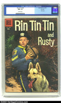Silver Age (1956-1969):Adventure, Rin Tin Tin #20 File Copy (Dell, 1957) CGC NM+ 9.6 Off-white pages. Photo cover. Overstreet 2003 NM 9.4 value = $70....