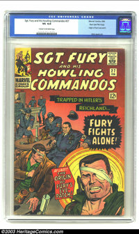 Sgt. Fury and His Howling Commandos #27 Stan Lee File Copy (Marvel, 1966) CGC VG 4.0 Cream to off-white pages. Origin of...