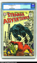 Silver Age (1956-1969):Science Fiction, Strange Adventures #120 (DC, 1960) CGC VF 7.5 Off-white pages. Second appearance of the Atomic Knights. Overstreet 2002 VF 8...