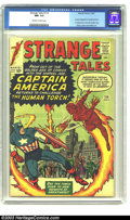Silver Age (1956-1969):Superhero, Strange Tales #114 (Marvel, 1963) CGC NM- 9.2 Off-white to white pages. Acrobat disguised as Captain America, first appearan...