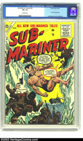 Golden Age (1938-1955):Superhero, Sub-Mariner Comics #41 (Timely, 1955) CGC VG- 3.5 Off-white pages. Namora appearance; Joe Maneely cover, Bill Everett art. O...