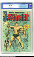 Silver Age (1956-1969):Superhero, The Sub-Mariner #1 (Marvel, 1968) CGC NM+ 9.6 Off-white to white pages. Beautiful copy of this key first issue. Origin Sub-M...