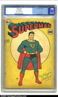 Superman #6 (DC, 1940) CGC G+ 2.5 Cream to off-white pages. First splash page in a Superman comic; Fred Ray cover. Overs...