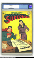 Golden Age (1938-1955):Superhero, Superman #27 (DC, 1944) CGC FN 6.0 Off-white pages. Lois Lane cover. Overstreet 2003 FN 6.0 value = $360....