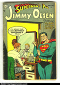 Golden Age (1938-1955):Superhero, Superman's Pal Jimmy Olsen #1 (DC, 1954) Condition: GD. Extremely rare first issue! Overstreet 2003 GD 2.0 value = $385....