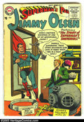 Golden Age (1938-1955):Superhero, Superman's Pal Jimmy Olsen #5 (DC, 1955) Condition: GD+. These mid-1950s superhero DCs are nearly impossible to find in any ...