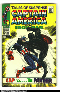 Tales of Suspense #98 (Marvel, 1968) Condition: VF. Captain America, Iron Man and Black Panter star in this classic issu...
