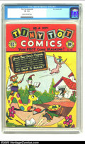 Golden Age (1938-1955):Funny Animal, Tiny Tot Comics #4 (EC, 1946) CGC VG 4.0 Cream to off-white pages.Features Dunny, the flying donkey, Peter and Pinky, Clipp...