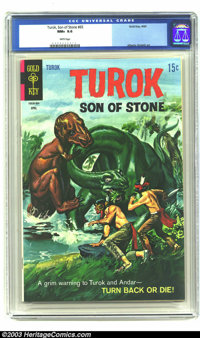 Turok #65 (Gold Key, 1969) CGC NM+ 9.6 White pages. Painted cover; Alberto Gioletti art. Overstreet 2003 NM 9.4 value =...