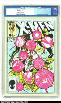 Uncanny X-Men #188 (Marvel, 1984) CGC NM/MT 9.8 Off-white to white pages. John Romita Jr. and Dan Green art. Overstreet...