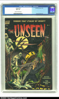 Golden Age (1938-1955):Horror, The Unseen #6 (Standard, 1952) CGC FN- 5.5 Cream to off-whitepages. George Roussos art. Overstreet 2003 FN 6.0 value = $90....