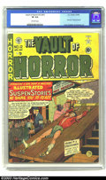 "Golden Age (1938-1955):Horror, Vault of Horror #12 (EC, 1950) CGC VF 8.0 Off-white pages. Scarce; first issue ""Vault of Horror""; Craig, Feldstein and Kurtz..."