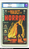 Golden Age (1938-1955):Horror, Vault of Horror #36 (EC, 1954) CGC FN/VF 7.0 Off-white to whitepages. Classic opium addict story by Krigstein; Ingels and D...