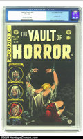 Golden Age (1938-1955):Horror, Vault of Horror #39 (EC, 1954) CGC VF+ 8.5 Off-white to whitepages. Bondage cover; Craig, Crandall and Ingels art. Overstre...