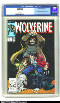 Wolverine #6 (Marvel, 1989) CGC NM/MT 9.8 White pages. Todd McFarlane pin-up on back cover; John Buscema, Al Williamson...