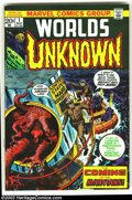 Bronze Age (1970-1979):Horror, Worlds Unknown Group (Marvel, early 1970s) Condition: Average VF8.0. Three issues of Worlds Unknown, issues #1 - 3, which f...(Total: 3 Comic Books Item)