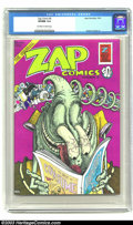 Bronze Age (1970-1979):Alternative/Underground, Zap Comix #6 (Apex Novelties, 1973) CGC VF/NM 9.0 Off-white to white pages. Robert Crumb art. Not listed in Overstreet. ...